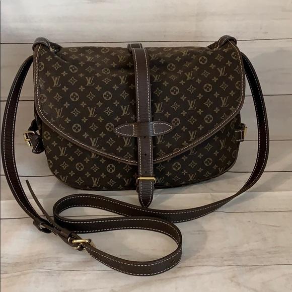 Louis Vuitton Handbags - LOUIS  VUITTON Mini Lin MM Saumur
